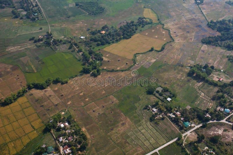 Angeles-Stadt von der Luft, Luzon, Philippinen stockbilder