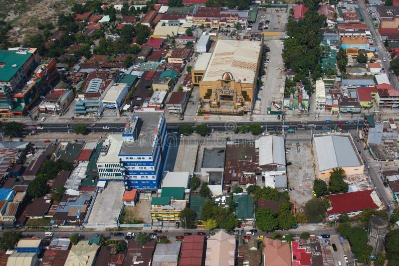 Angeles-Stadt von der Luft, Luzon, Philippinen stockfotos