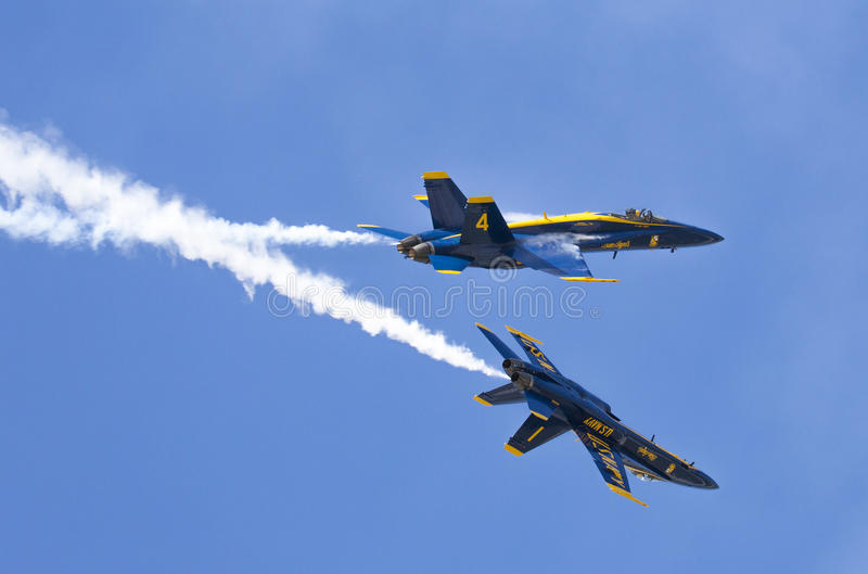 Angeli blu dello show aereo immagini stock