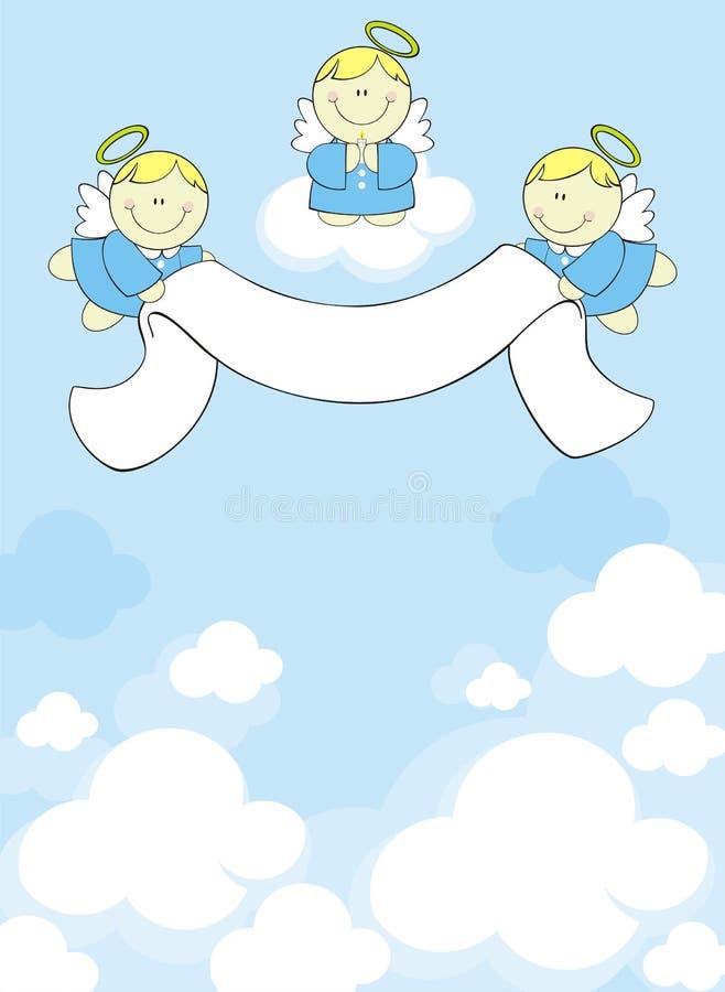 Angeli dei cherubs del bambino illustrazione vettoriale