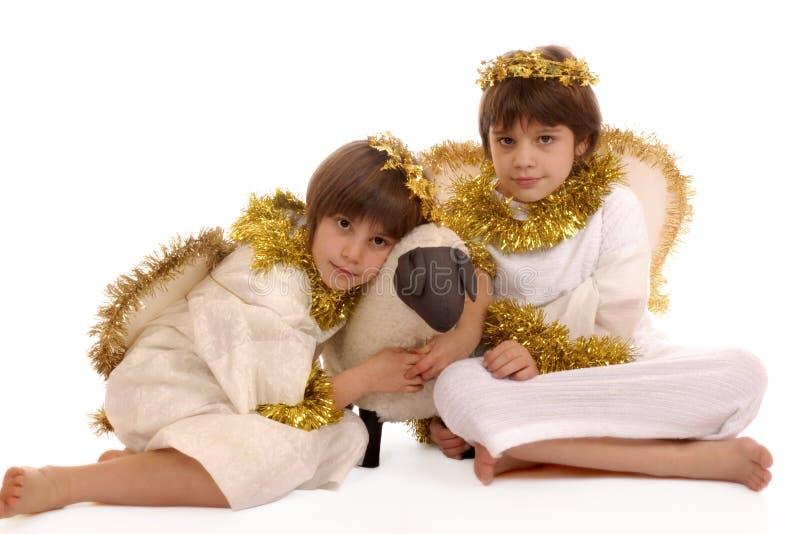 Angeli della sorella immagini stock