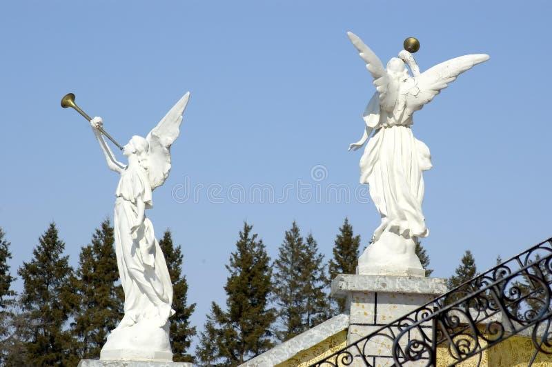 Angeli Di Pietra Fotografie Stock Libere da Diritti