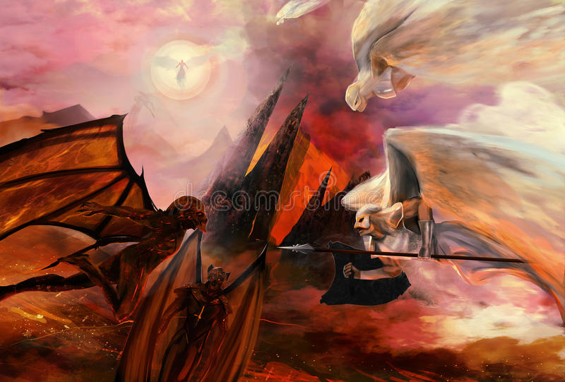 Angeli e demoni royalty illustrazione gratis