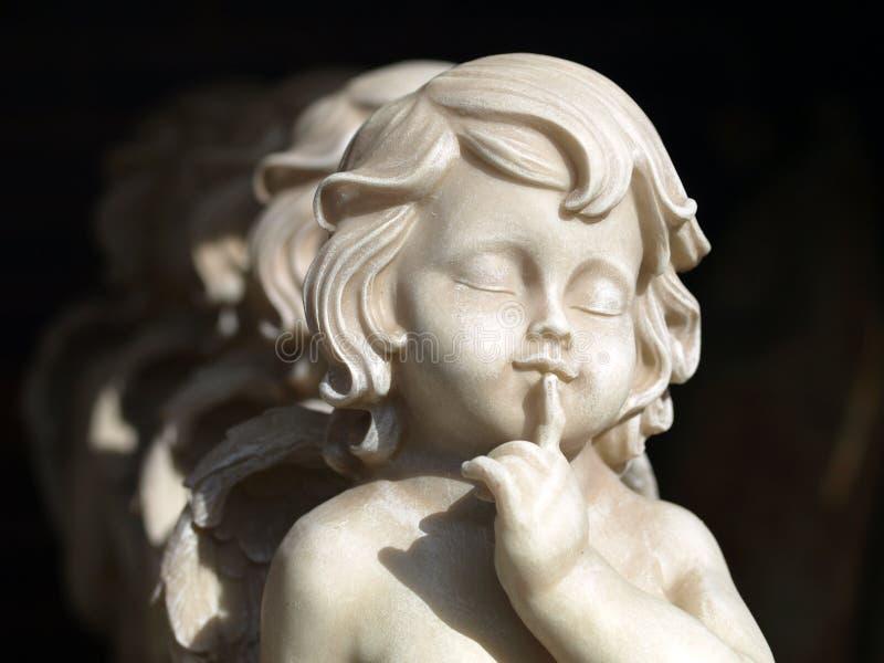 Angeli pacifici di pietra fotografia stock