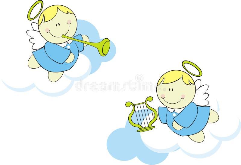 Angeli svegli del bambino illustrazione vettoriale
