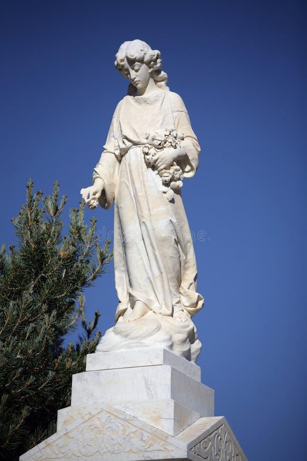 Angelic Cemetery Statue Stock Photography