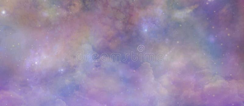 Angelic Ethereal Starry Night Sky-Hintergrund vektor abbildung