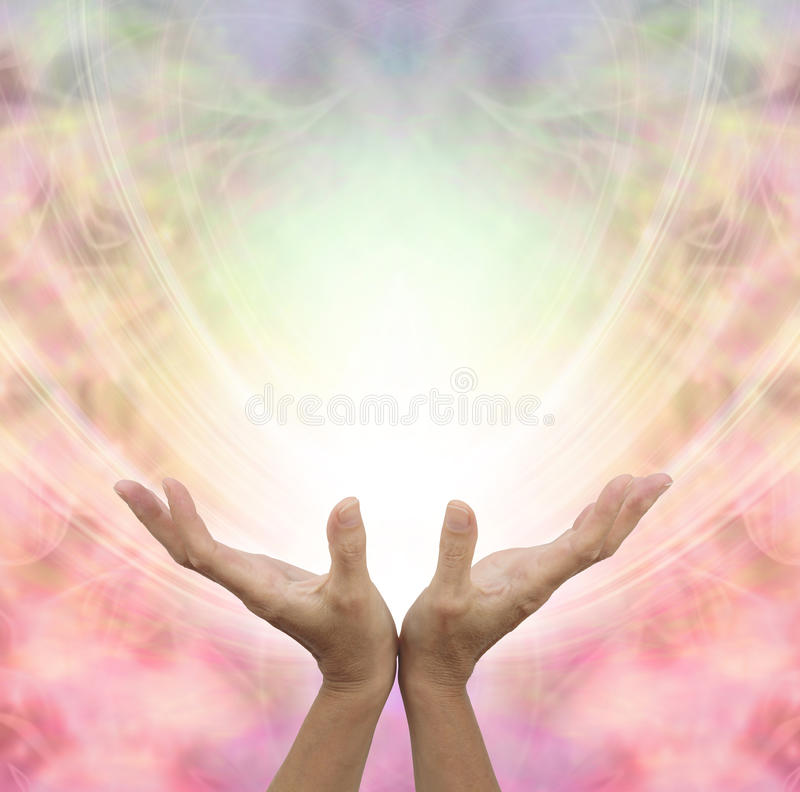 Angelic Healing Energy stock illustrationer
