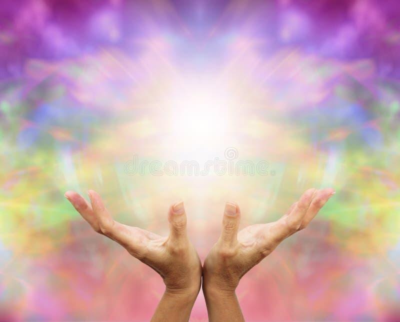 Angelic Healing Energy stock images