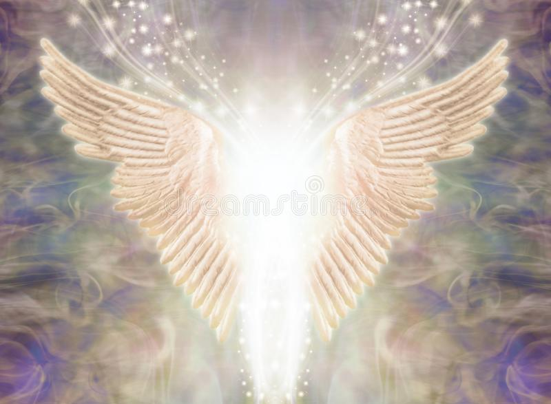 Angelic Light Being Ethereal Background stock illustrationer