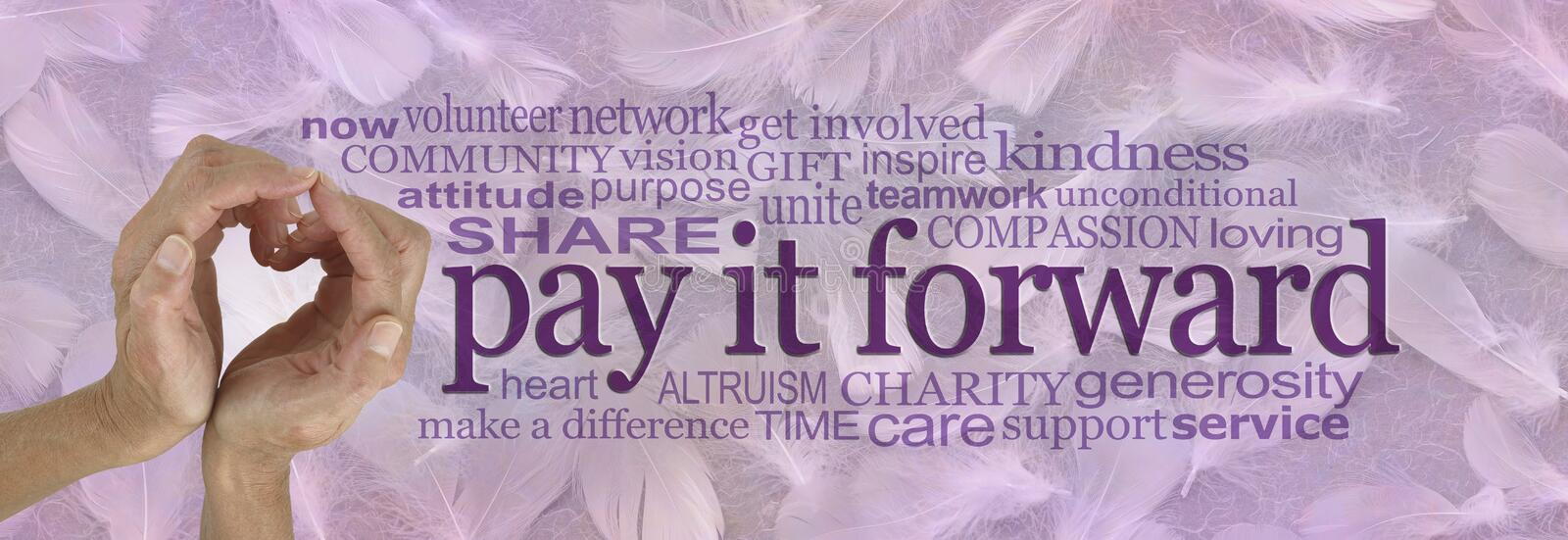 Angelic Pay it forward campaign banner vector illustration