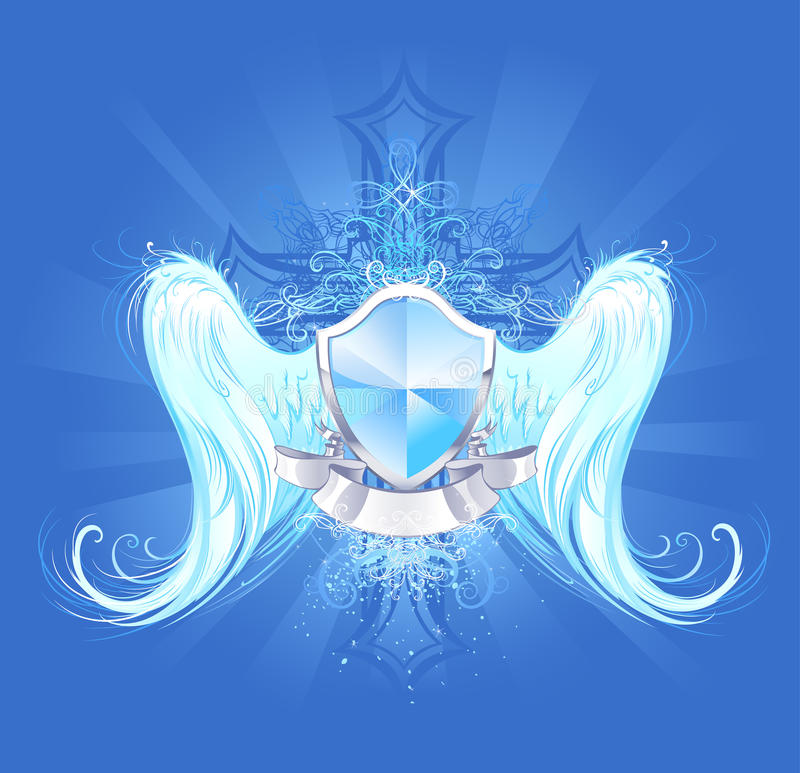 Angelic protection vector illustration