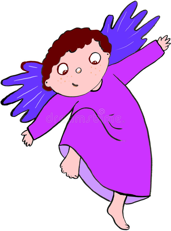 Download The angelic wings stock illustration. Image of violet - 8405127