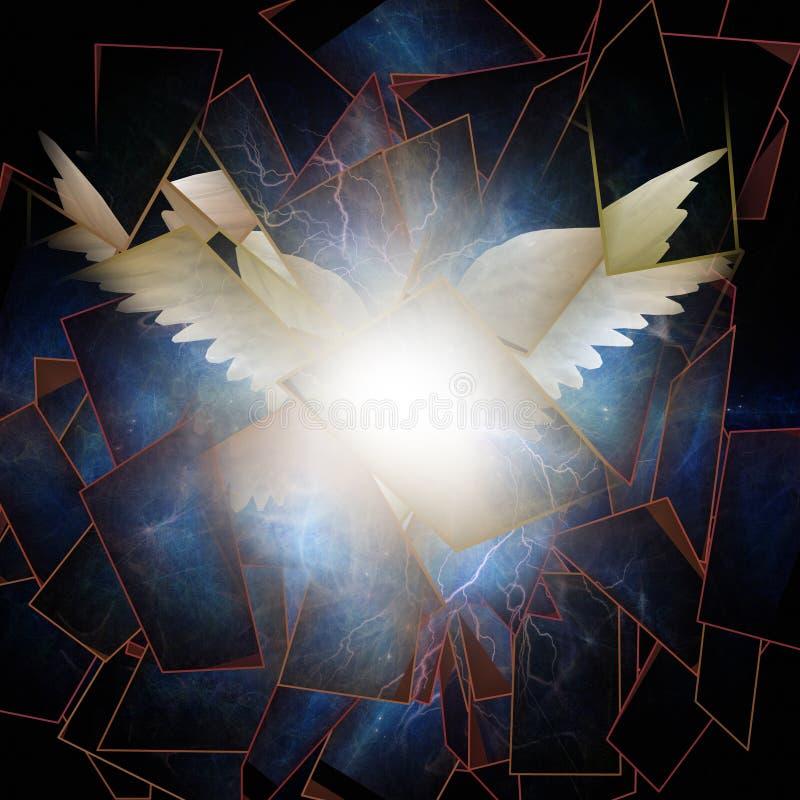 Angelic Wings Abstraction ilustración del vector