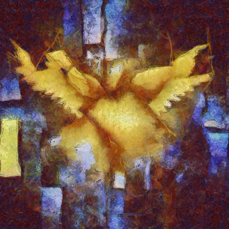 Angelic Wings Abstraction ilustração royalty free