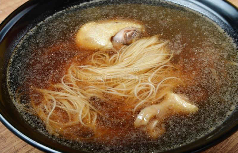 Angelica duck thin noodles. A popular Taiwan food royalty free stock photography
