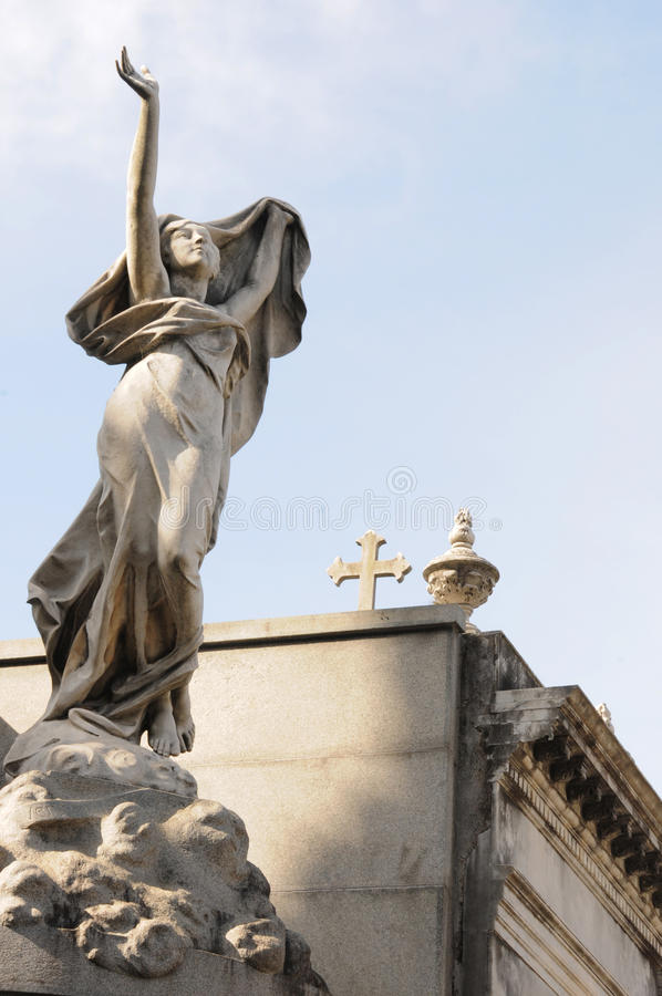 Angelical Statue stock photos