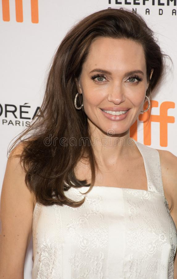 Angelina attends `The Breadwinner` Premiere at Toronto International Film Festival. Actress Angelina Jolie attends `The Breadwinner` premiere during the 2017 stock photos