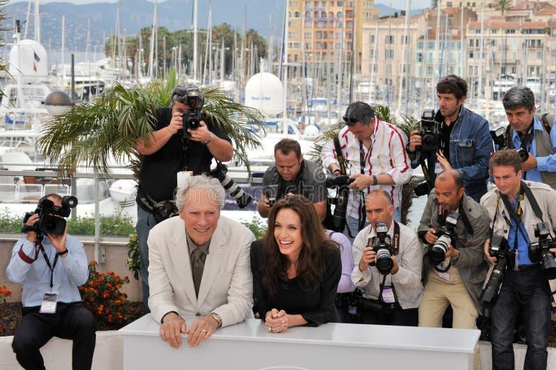 Angelina Jolie, Clint Eastwood 库存图片