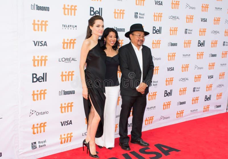 Angelina Jolie Światowy premiera ` Najpierw Zabili Mój ojca ` przy Toronto Międzynarodowym Ekranowym festiwalem obraz royalty free