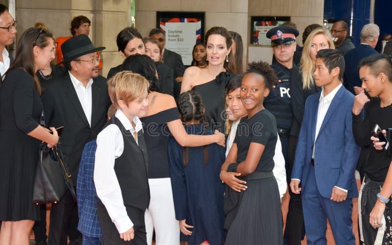 Angelina Jolie Światowy premiera ` Najpierw Zabili Mój ojca ` przy Toronto Międzynarodowym Ekranowym festiwalem obraz stock
