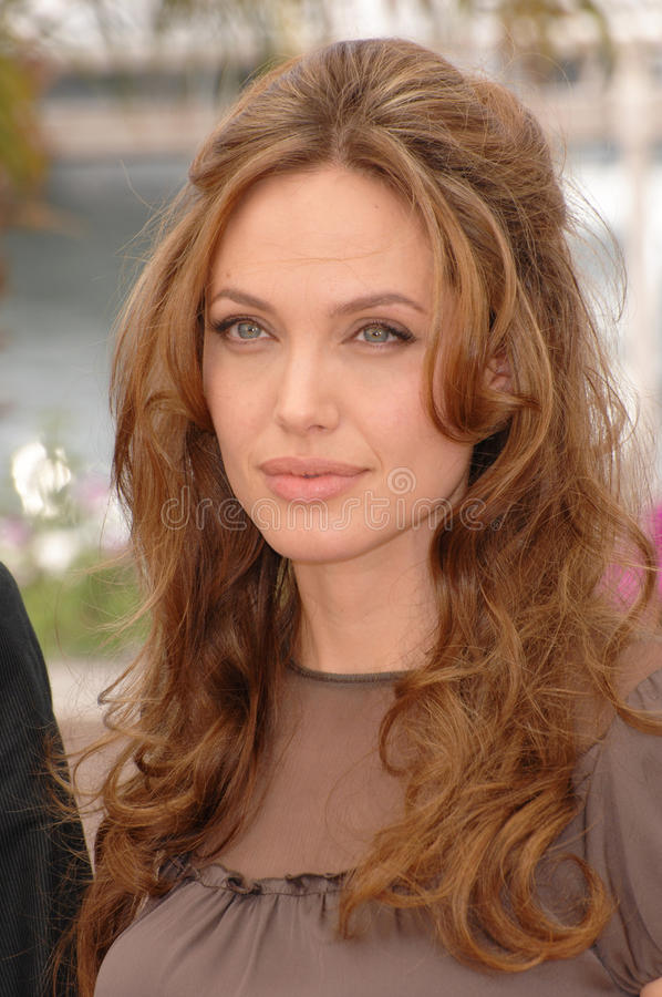 Angelina Jolie. At photocall for her new movie A Mighty Heart at the 60th Annual International Film Festival de Cannes. May 21, 2007 Cannes, France. 2007 Paul royalty free stock photography