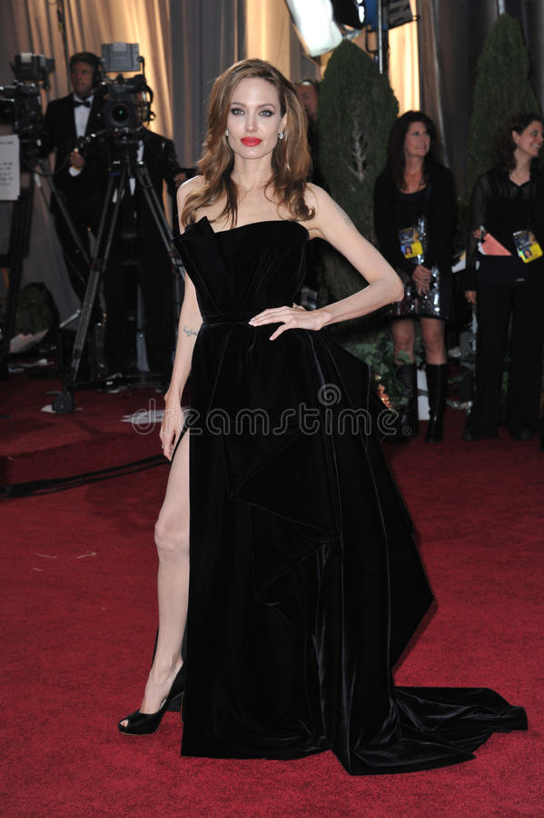 Angelina Jolie. At the 84th Annual Academy Awards at the Hollywood & Highland Theatre, Hollywood. February 26, 2012 Los Angeles, CA Picture: Paul Smith / royalty free stock image