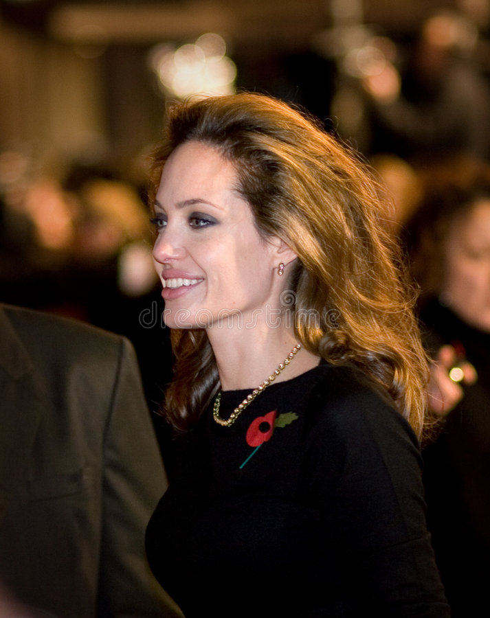 Angelina Jolie. At the european premiere of 'Beowulf' at the Vue cinema on November 11, 2007, London, England royalty free stock photography