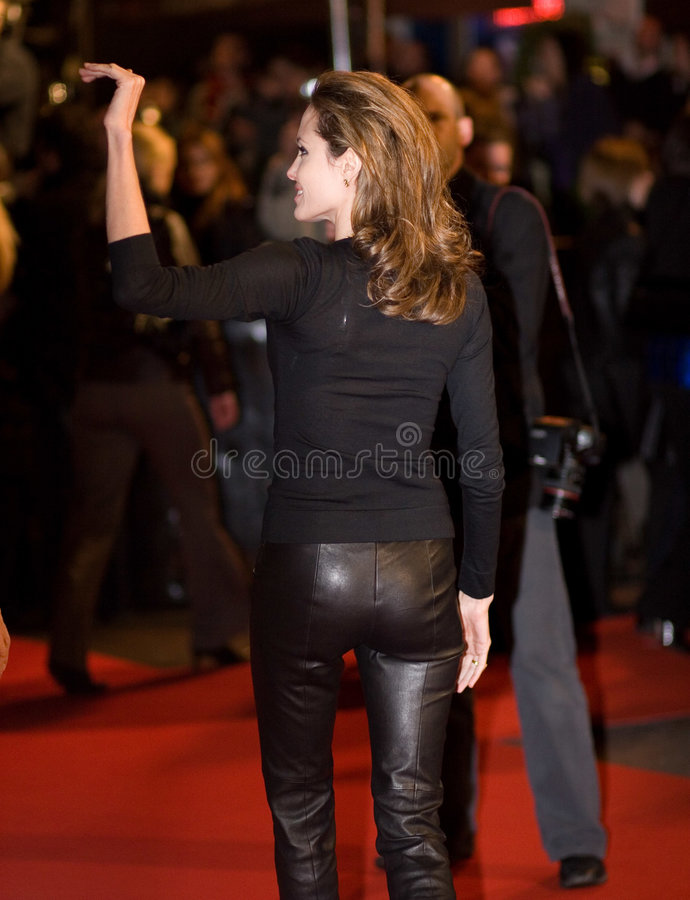 Angelina Jolie. At the european premiere of 'Beowulf' at the Vue cinema on November 11, 2007, London, England stock photo