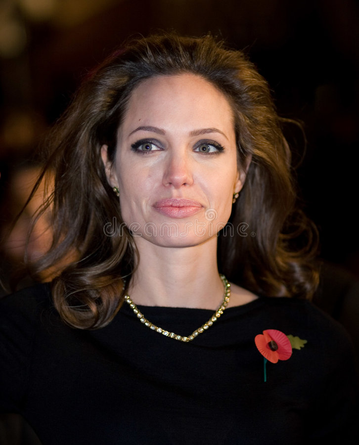 Angelina Jolie. At the european premiere of 'Beowulf' at the Vue cinema on November 11, 2007, London, England royalty free stock images