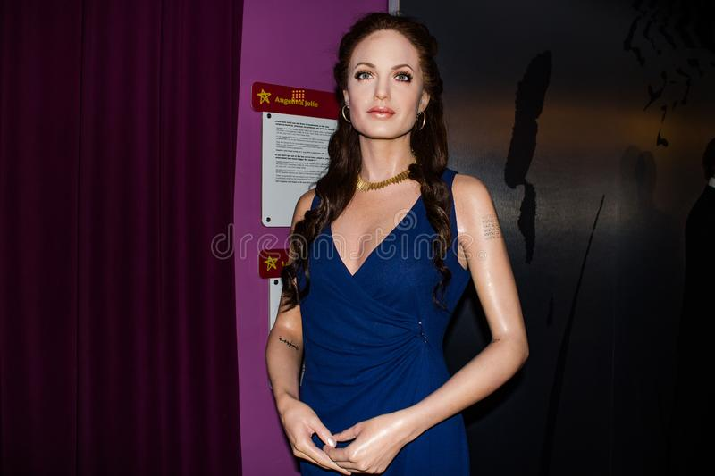 Angelina Jolie wax figure, Madame Tussaud`s Museum Vienna stock images