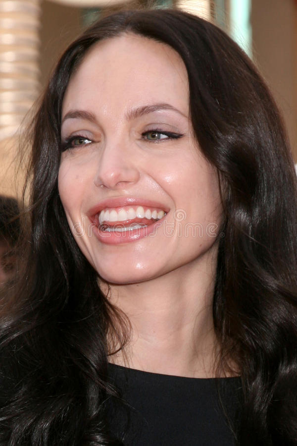 Angelina Jolie. Arriving at the' Kung Fu Panda' & 'Secrets of the Furious Five' DVD Debut at Gauman's Chinese Theater in Los Angeles, CA on November 9, 2008 stock photography