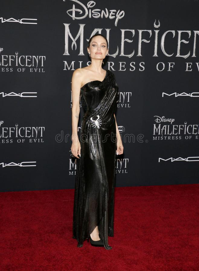 Angelina Jolie. At the World premiere of Disney`s `Maleficent: Mistress Of Evil` held at the El Capitan Theatre in Hollywood, USA on September 30, 2019 stock photo