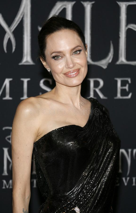 Angelina Jolie. At the World premiere of Disney`s `Maleficent: Mistress Of Evil` held at the El Capitan Theatre in Hollywood, USA on September 30, 2019 stock images