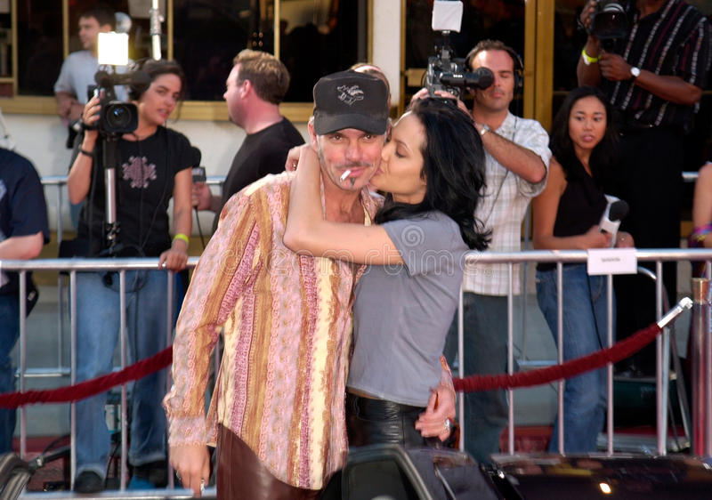Angelina Jolie,Billy Bob Thornton. Actress ANGELINA JOLIE & actor husband BILLY BOB THORNTON at the world premiere, in Westwood, of her new movie Gone In 60 royalty free stock photography