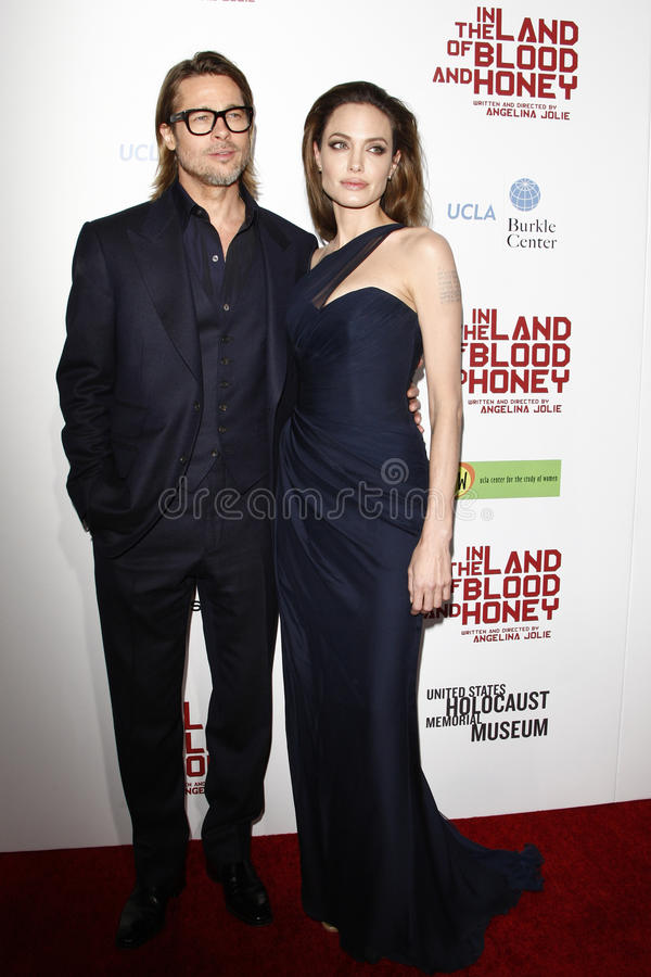 Angelina Jolie, Brad Pitt royalty-vrije stock afbeelding