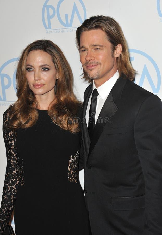 Angelina Jolie, Brad Pitt stock afbeeldingen