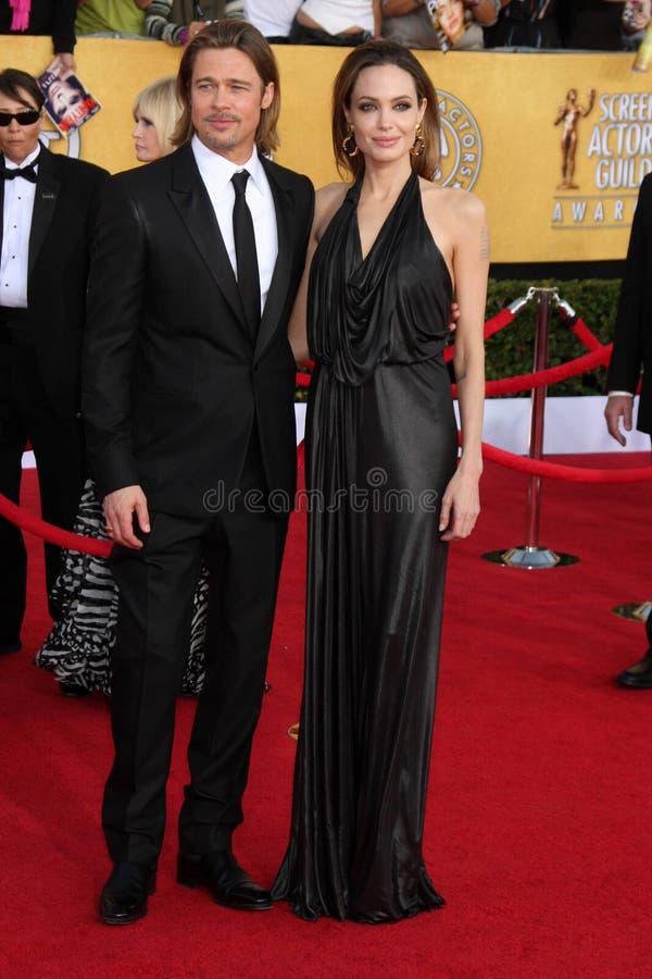 Angelina Jolie, Brad Pitt stock fotografie