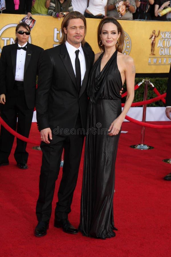 Angelina Jolie, Brad Pitt photographie stock