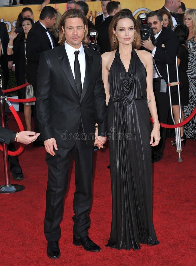 Angelina Jolie, Brad Pitt stock foto's