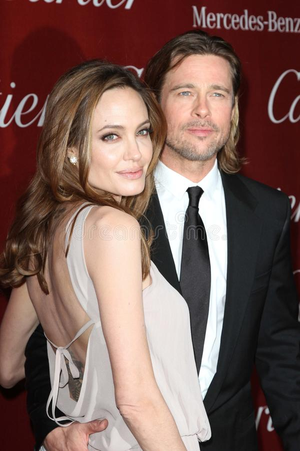 Download Angelina Jolie, Brad Pitt editorial photo. Image of convention - 23275701