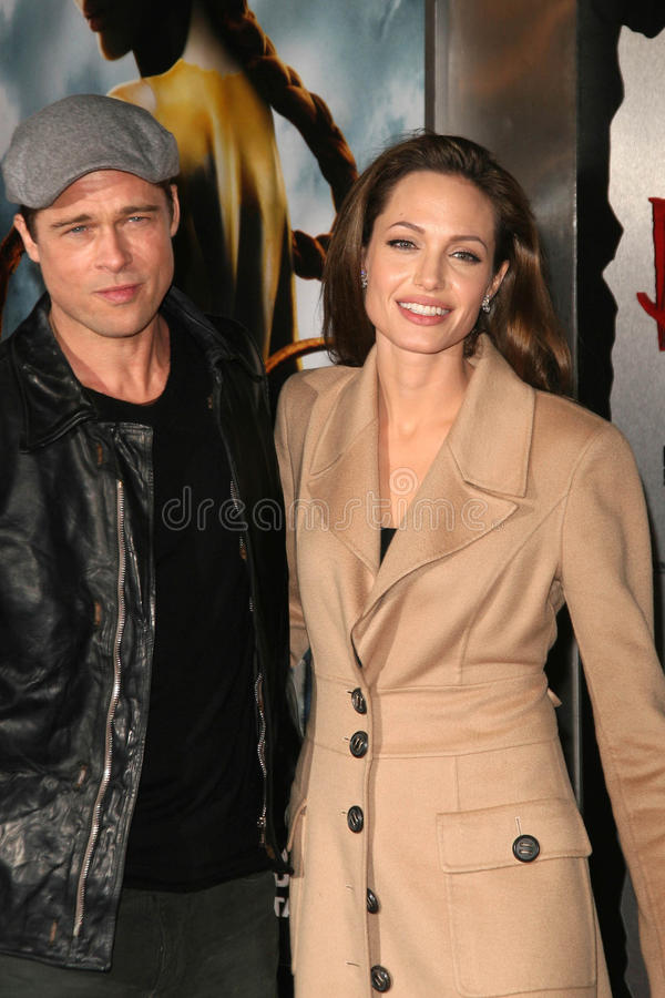 Angelina Jolie, Brad Pitt royalty-vrije stock foto's