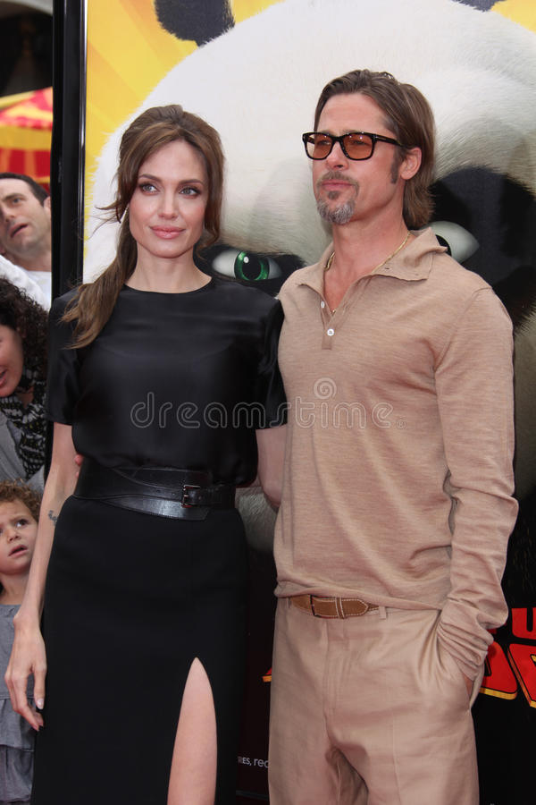Angelina Jolie, Brad Pitt imagenes de archivo