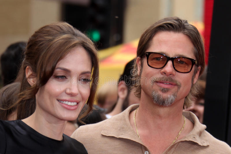 Angelina Jolie, Brad Pitt imagen de archivo libre de regalías