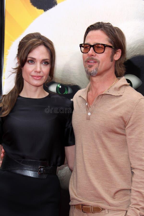 Angelina Jolie, Brad Pitt imagem de stock royalty free