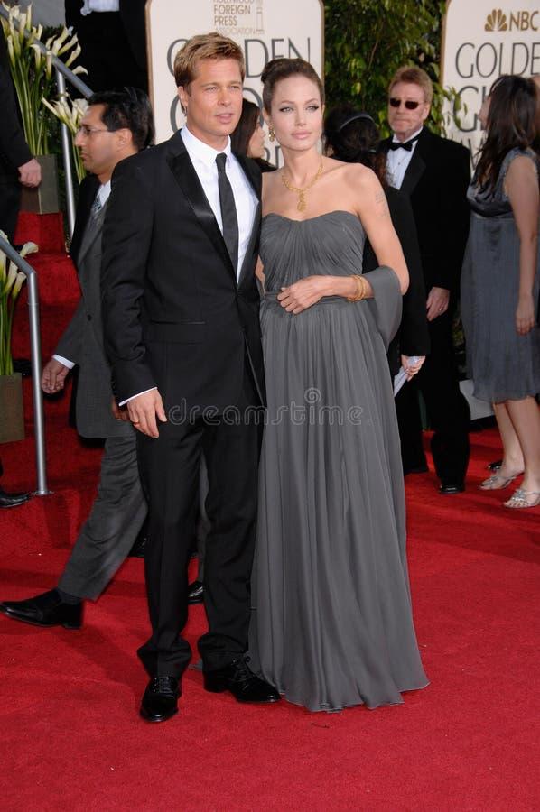 Angelina Jolie, Brad Pitt stock foto