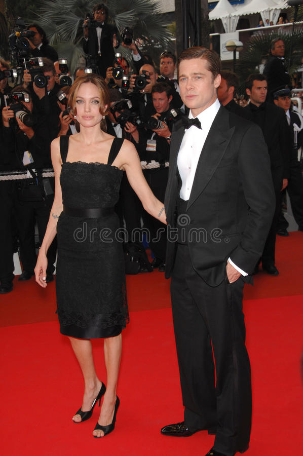 Angelina Jolie, Brad Pitt images stock