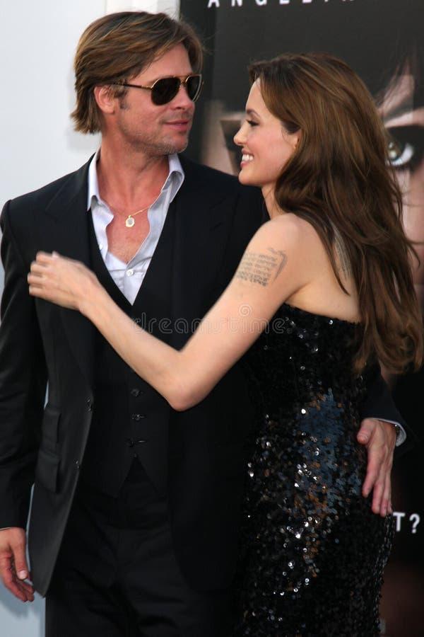 Angelina Jolie, Brad Pitt stock afbeelding