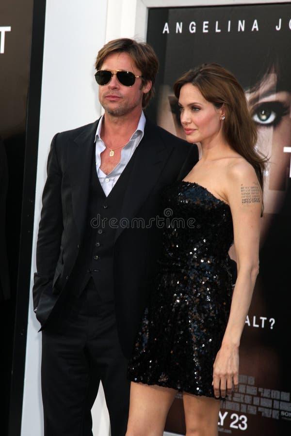 Angelina Jolie, Brad Pitt stockbild