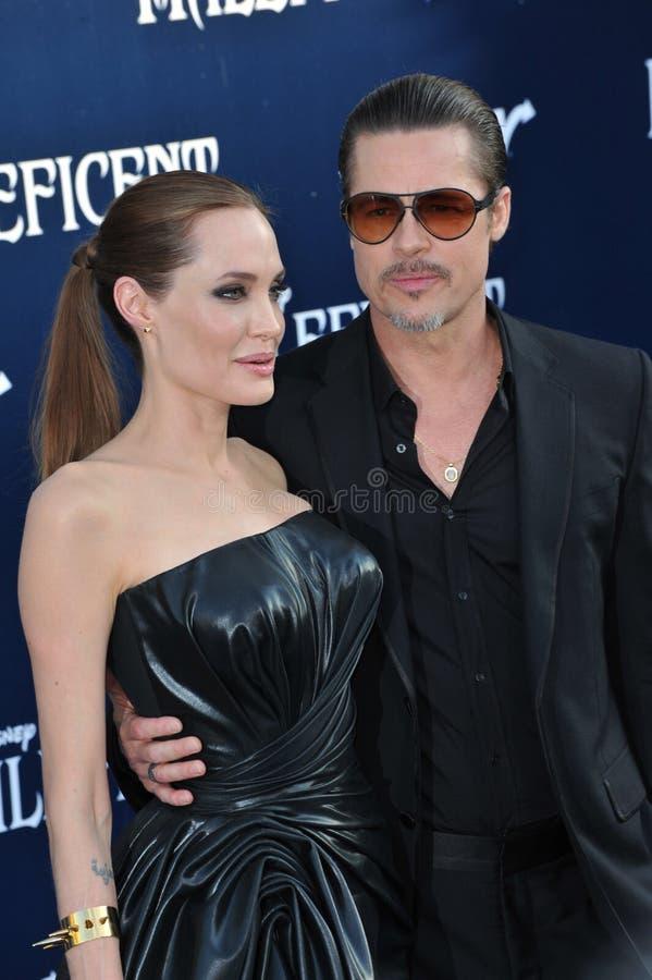 Angelina Jolie & Brad Pitt royalty-vrije stock foto's